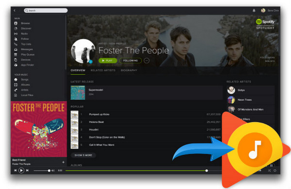 Transférer Spotify Playlists à Google Play Music