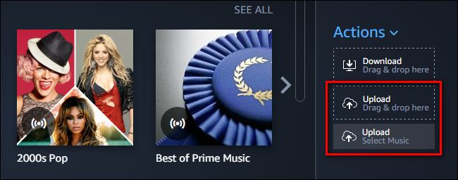 Upload Spotify music to Amazon