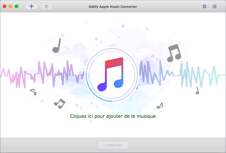 Interface principale de Sidify Apple Music Converter pour Mac