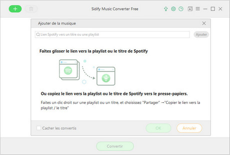 Importer Spotify Music